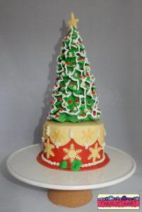 kerstboom-taart